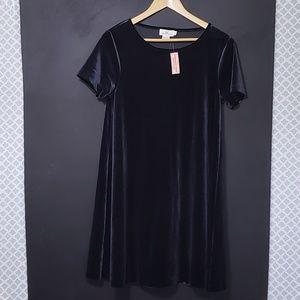 VINEYARD VINES Navy Velvet Swing Dress NWT